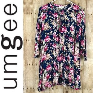 Umgee Floral Dress Size Large